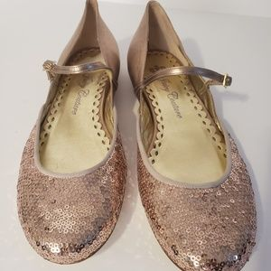 Juicy Couture - Gold Sequin Mary Jane's - Size 10M